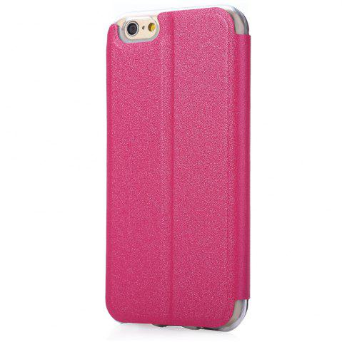 Buy Matte Flip Leather Protective Case Smart Metal SlidingAnswer Phone Cover for iPhone 6 Plus / 6s Plus - ROSE  Mobile