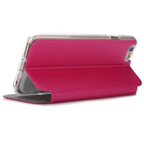 Hot Matte Flip Leather Protective Case Smart Metal SlidingAnswer Phone Cover for iPhone 6 Plus / 6s Plus - ROSE  Mobile