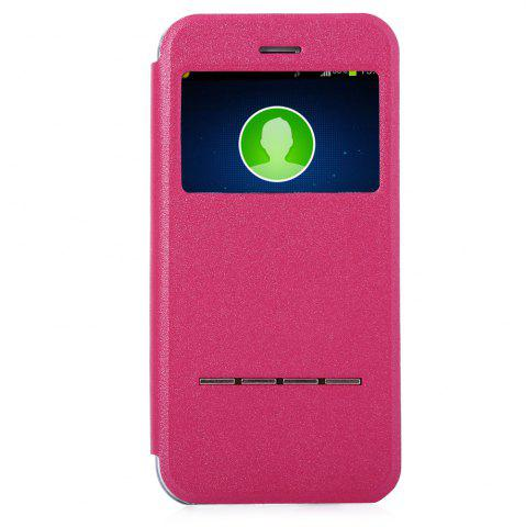 New Matte Flip Leather Protective Case Smart Metal SlidingAnswer Phone Cover for iPhone 6 Plus / 6s Plus - ROSE  Mobile