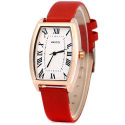 KEZZI K - 773 Women Quartz Watch Elliptical Dial Roman Numbers Wristwatch