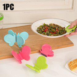 Butterfly Shaped Silicone Magnets Cooking Plate Pot Clip Holders Heat Resistant Surface Protectors -