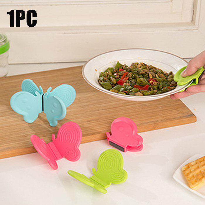 Butterfly Shaped Silicone Magnets Cooking Plate Pot Clip Holders Heat Resistant Surface ProtectorsHOME<br><br>Color: COLORMIX; Type: Other Kitchen Accessories; Material: Silicone;