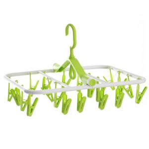 Folding Rectangle Shape PP Hanger with 20 Racks - COLORMIX