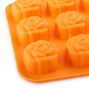 Cute DIY Rose Flower Shape Cake Molds Silicone Multi-Function Bakeware Cooking Tools -