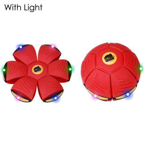 Store Magic Flat Ball Magnetic Flying Plate Transform Ball with Light
