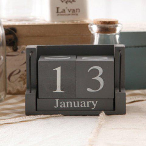 Store Creative Home Wooden Calendar Desktop Office Practical Small Desk Decoration - GRAY  Mobile