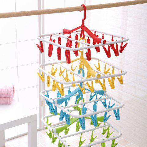Outfit Folding Rectangle Shape PP Hanger with 20 Racks COLORMIX