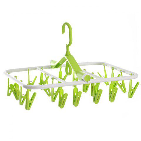 Affordable Folding Rectangle Shape PP Hanger with 20 Racks - COLORMIX  Mobile