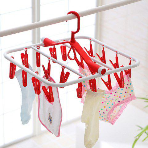 Chic Folding Rectangle Shape PP Hanger with 20 Racks - COLORMIX  Mobile