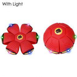 Magic Flat Ball Magnetic Flying Plate Transform Ball with Light -