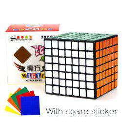 Shengshou Cube Glossy 7 x 7 x 7 V-Cube 7 Black Base Fun Educational Toy