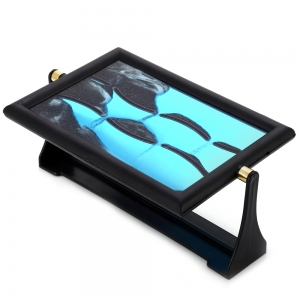 3D Rectangle Type Decorative Hourglass Sand Picture Frame Painting Mountains Moving Scene Birthday Gift Ornament - BLUE/BLACK