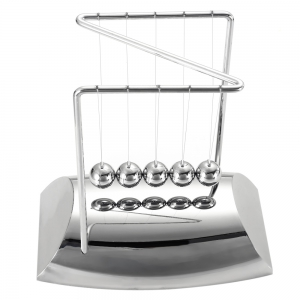 Creative Z Type Cradle Ball Pendulum Pool Home Decor Office Desk Decoration - Silver - W24 Inch * L71 Inch