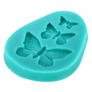 Silicone Butterfly Shape Mold Craft Party Decorating DIY Cake Candy Biscuit Manual Tool - Cyan