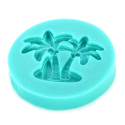 Silicone Coconut Tree Shape Sweets Fondant Cake Chocolate Molds for Kitchen Baking -