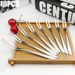 10PCS Stainless Steel Fruit Fork Household Supply