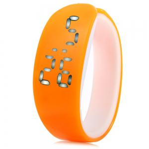 Jijia White Subtitle Date Display LED Montre Candy Color Dolphin Shape Dial -