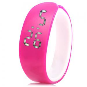 Jijia White Subtitle Date Display LED Watch Candy Color Dolphin Shape Dial -