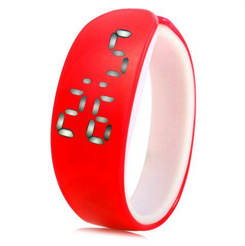 Outfit Jijia White Subtitle Date Display LED Watch Candy Color Dolphin Shape Dial