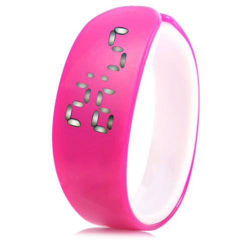 Discount Jijia White Subtitle Date Display LED Watch Candy Color Dolphin Shape Dial - BLACK  Mobile