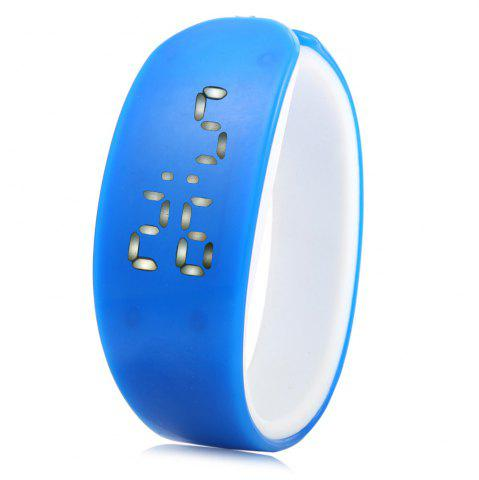 Fashion Jijia White Subtitle Date Display LED Watch Candy Color Dolphin Shape Dial - BLACK  Mobile