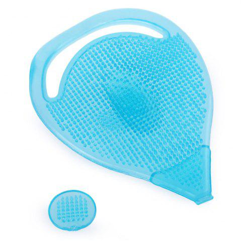 Cheap Facial Skin Care Cleansing Silicone Gel Soft Pad Face Blackhead Remover Brush - BLUE  Mobile