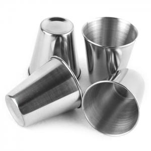 4PCS Stainless Steel Cup Camping Travel Mug Coffee Beer Drinking Tool -