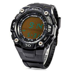 Alike A14106 Date Display LED Sports Watch 50M Water Resistance with Pedometer -