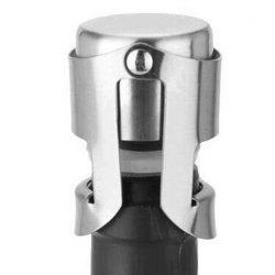 Stainless Steel Champagne Stopper Wine Bottle Sealer Plug -
