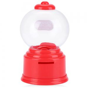 Cute Mini Candy Gumball Dispenser Vending Machine Saving Coin Bank Kids Toy -