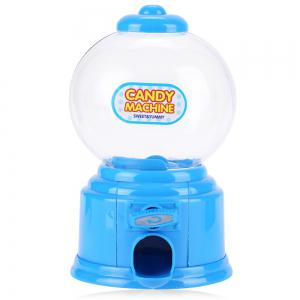 Cute Mini Candy Gumball Dispenser Vending Machine Saving Coin Bank Kids Toy - Blue