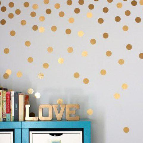 Online PVC 52PCS Dot Shape Wallpaper Decorative Wall Stickers Water Resistant Home Art Decals