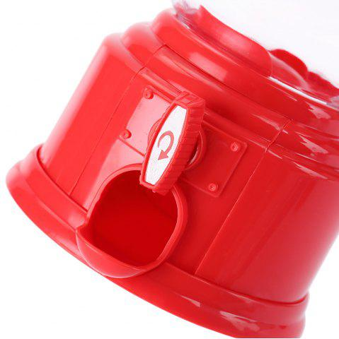 Latest Cute Mini Candy Gumball Dispenser Vending Machine Saving Coin Bank Kids Toy - RED  Mobile