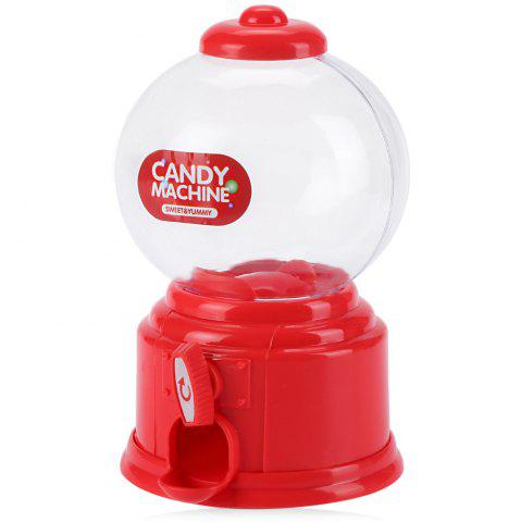 Outfit Cute Mini Candy Gumball Dispenser Vending Machine Saving Coin Bank Kids Toy - RED  Mobile