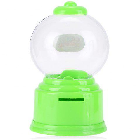 Outfit Cute Mini Candy Gumball Dispenser Vending Machine Saving Coin Bank Kids Toy - GREEN  Mobile