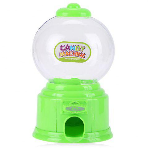 Cheap Cute Mini Candy Gumball Dispenser Vending Machine Saving Coin Bank Kids Toy - GREEN  Mobile