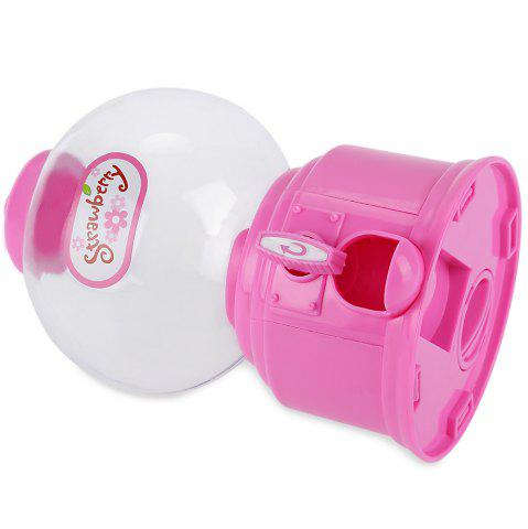 Latest Cute Mini Candy Gumball Dispenser Vending Machine Saving Coin Bank Kids Toy - PINK  Mobile