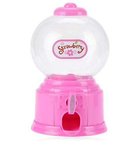 Outfit Cute Mini Candy Gumball Dispenser Vending Machine Saving Coin Bank Kids Toy - PINK  Mobile