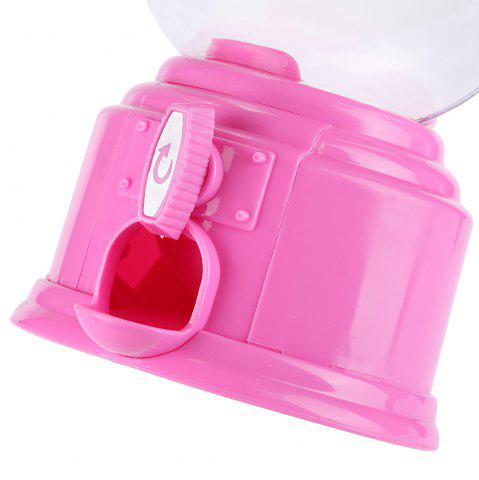 Best Cute Mini Candy Gumball Dispenser Vending Machine Saving Coin Bank Kids Toy - PINK  Mobile