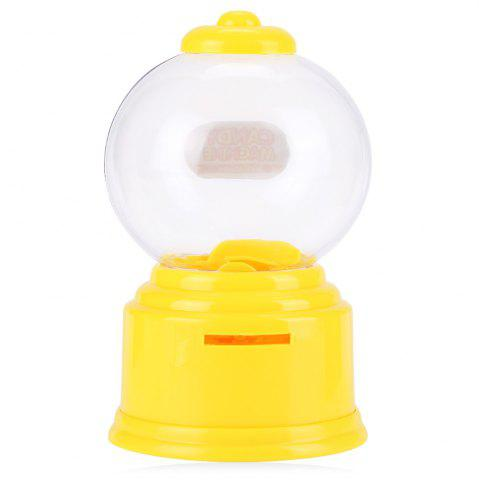 Affordable Cute Mini Candy Gumball Dispenser Vending Machine Saving Coin Bank Kids Toy - YELLOW  Mobile