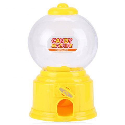 Latest Cute Mini Candy Gumball Dispenser Vending Machine Saving Coin Bank Kids Toy YELLOW