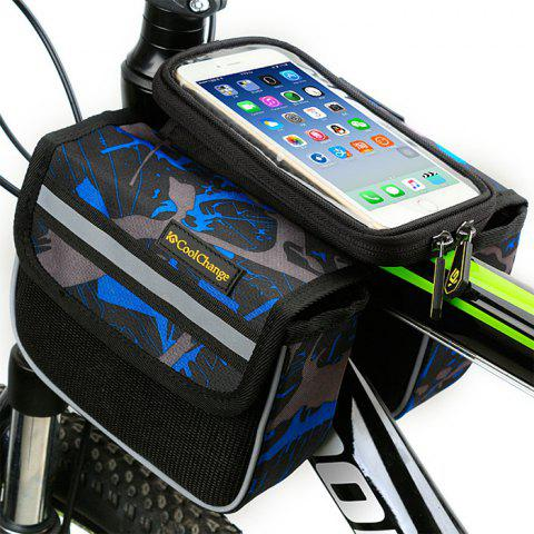 Shop CoolChange 5.7 inches Bicycle Front Tube Bag Reflective Stripe Edge -   Mobile