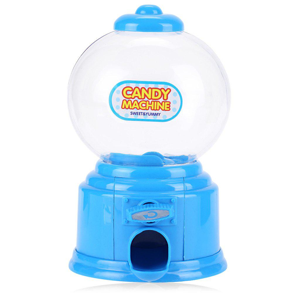 Cute Mini Candy Gumball Dispenser Vending Machine Saving Coin Bank Kids ToyHOME<br><br>Color: BLUE; Style: Cute; Material: ABS; Product weight: 0.0870 kg; Package weight: 0.1090 kg; Product size (L x W x H): 8.70 x 8.70 x 14.50 cm / 3.43 x 3.43 x 5.71 inches; Package size (L x W x H): 9.00 x 9.00 x 15.10 cm / 3.54 x 3.54 x 5.94 inches; Package Contents: 1 x Candy Dispenser;