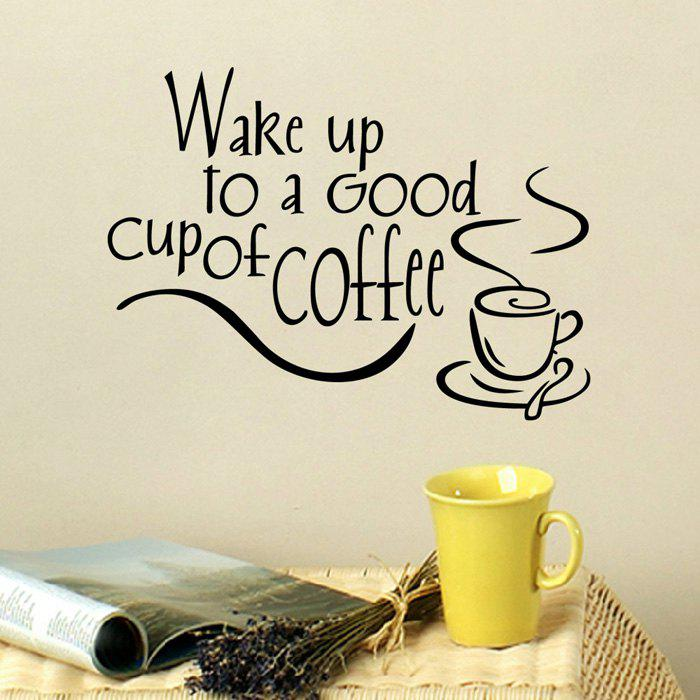 Best PVC Wake Up To Letter Style Wall Sticker Removable Water Resistant Home Art Decals