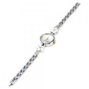 JW 8090L Diamond Scale Female Quartz Watch Rose Decoration Alloy Band -