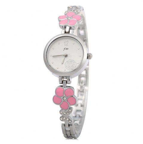 Fashion JW 8090L Diamond Scale Female Quartz Watch Rose Decoration Alloy Band