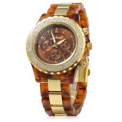 JUBAOLI 1066 Decorative Sub-dial Diamond Decoration Stainless Steel Band Male Quartz Watch -