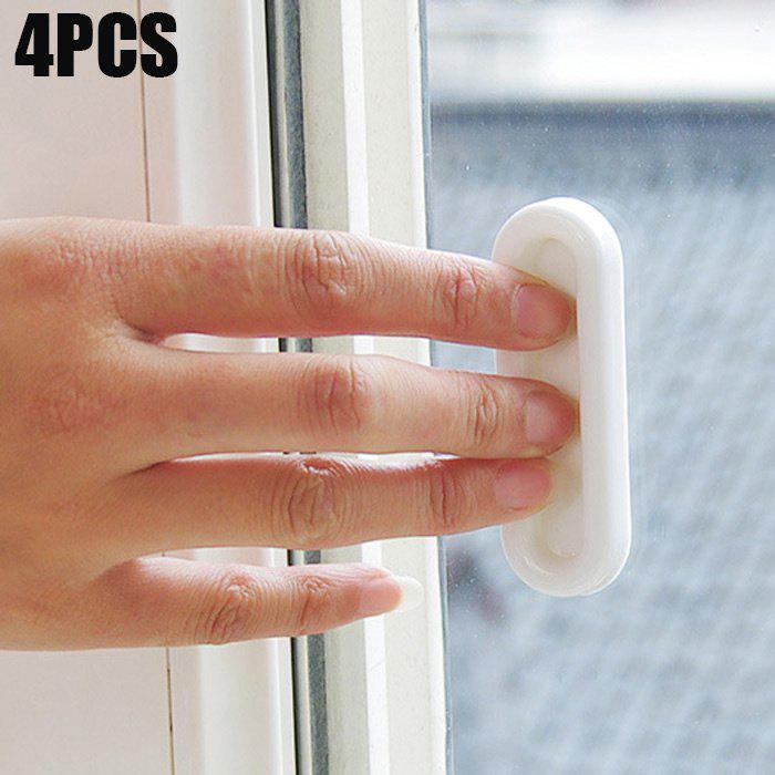 Outfits 4PCS Multi-functional Doors and Windows Opening Auxiliary Handle with Strong Adhesive Tap