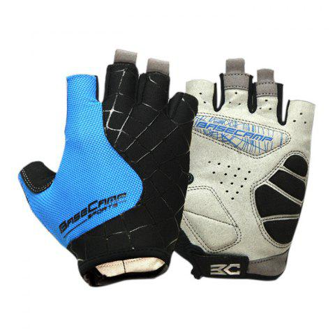 Cheap BaseCamp BC-202 Super Breathable Grid Fabric Unisex Half-finger Cycling Gloves -   Mobile