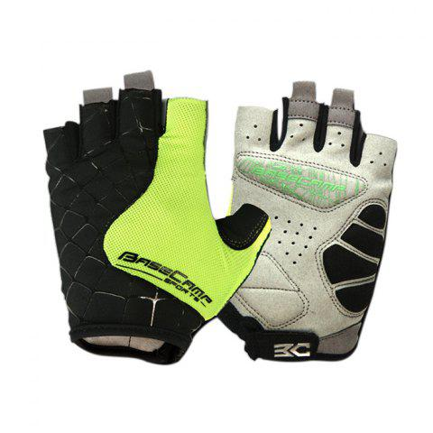 Trendy BaseCamp BC-202 Super Breathable Grid Fabric Unisex Half-finger Cycling Gloves -   Mobile